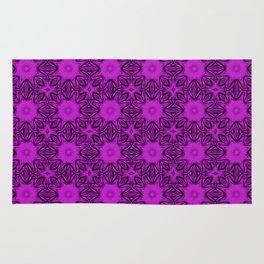 Dazzling Violet Floral Rug