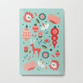 Florals + Ornaments Metal Print