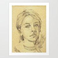 The Stranger - L'inconnue Art Print