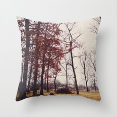 Red Bare Throw Pillow