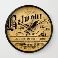 castlevania Wall Clocks featuring Belmont Pest Control Specialists by Greg Barnes