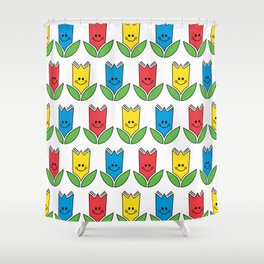 Flowers Of Primary Colors - Fleurs Aux Couleurs Primaires Shower Curtain