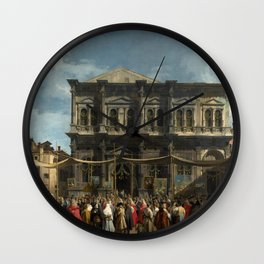 Giovanni Antonio Canal il Canaletto The Feast Day of St Roch Wall Clock