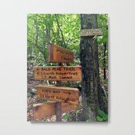 Bald Peak Trail, Pleasant Mountain, Maine Metal Print