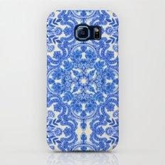Cobalt Blue & China White Folk Art Pattern Galaxy S7 Slim Case