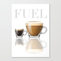 pocket fuel Canvas Prints featuring Fuel by Nick Purser
