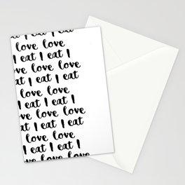 I love eat pattern 2 Stationery Cards