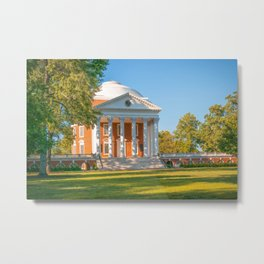 Charlottesville Virginia Campus Lawn Print Metal Print