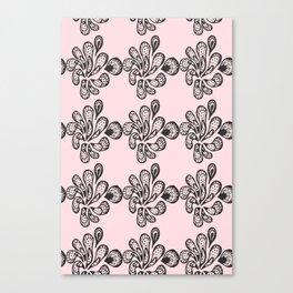 Soft pink ornament Canvas Print