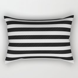 Sleepy Black and White Stripes Rectangular Pillow
