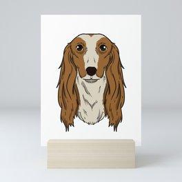 Funny Saluki Dog head Dog gift Mini Art Print