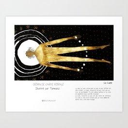 """""""La Lune"""" en Mots & Image illustré par Tarmasz (French Touch) Art Print"""