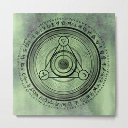 Rune geometry sacred mystic Metal Print