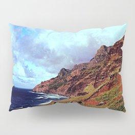 Red Hawaiian Mountain Pillow Sham