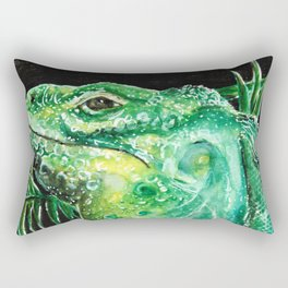 Grand Cayman Iguana Rectangular Pillow