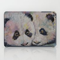 pandas iPad Cases featuring Baby Pandas by Michael Creese