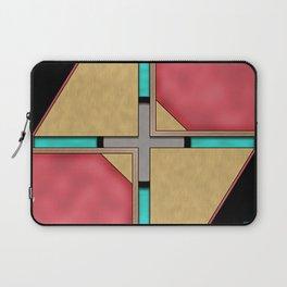 Quad - Geometric Art Deco Design Laptop Sleeve