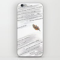 murakami iPhone & iPod Skins featuring Fate is like a sandstorm by Janet Carpenter