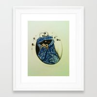 cookie monster Framed Art Prints featuring Cookie Monster  by Jay Dee Art