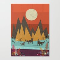wolves Canvas Prints featuring Wolves by Kakel