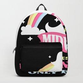 Cute Midwife Unicorn Baby Birth Doula Backpack