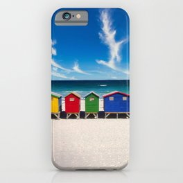 The Colorful Houses on the Beach photograph iPhone Case