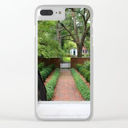 View From The Portico Clear iPhone Case