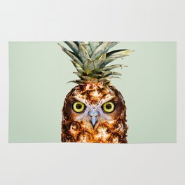 PINEAPPLE OWL Rug