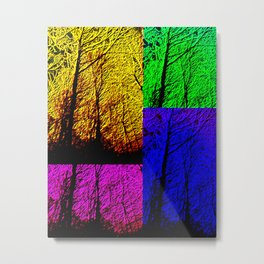 Neon Forest Metal Print