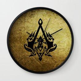 Creed Assassins Grunge Logo Wall Clock