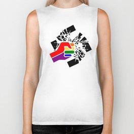 Obliterate Hate w/ Pride (women) Biker Tank