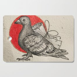 A carrier pigeon Cutting Board