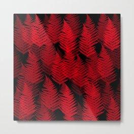 Red Fern Metal Print