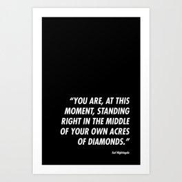 Acres of Diamonds Art Print