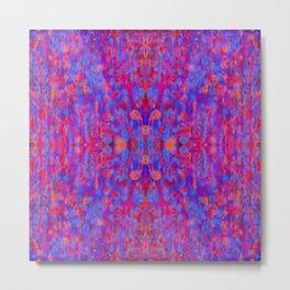 colored rain, symmetry Metal Print