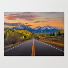The Road To Telluride Canvas Print