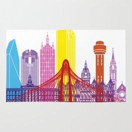 Dallas skyline pop Rug