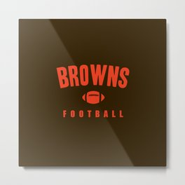 Browns Football Metal Print