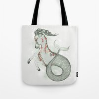 capricorn Tote Bags featuring Capricorn by Vibeke Koehler