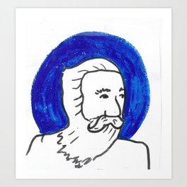 The Blue Man Art Print