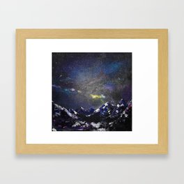 Mountains in night Framed Art Print