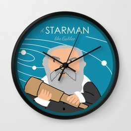 A Starman like Galileo Wall Clock
