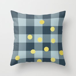 blue jeans & mimosa || pattern Throw Pillow