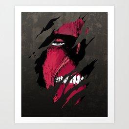 Titan in the Wall Art Print