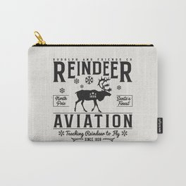 Reindeer Aviation - Christmas Carry-All Pouch
