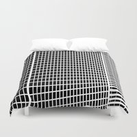 buildings Duvet Covers featuring TWO BUILDINGS by THE USUAL DESIGNERS