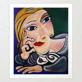 THE THINKER  PICASSO BY NORA Art Print