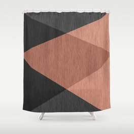 Black , brown ,abstract , geometric Shower Curtain