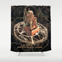 cthulhu Shower Curtains featuring Cthulhu by TheMagicWarrior