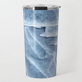 Light steel blue colored wash drawing texture Travel Mug